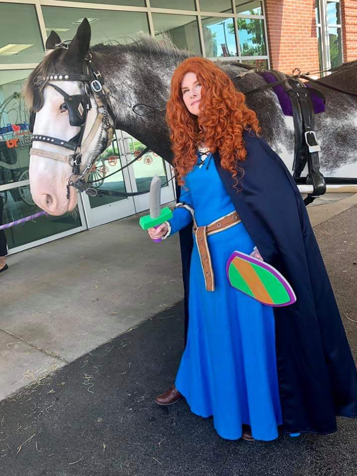 Merida with a horse